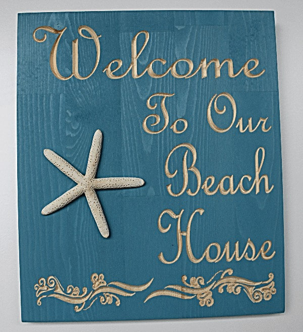 Welcome To Our Beach House Sign: Welcome To Our Beach House Sign